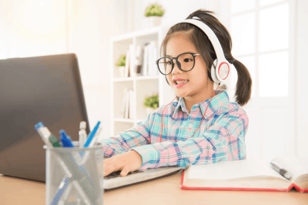 North Shore Student Studying Online